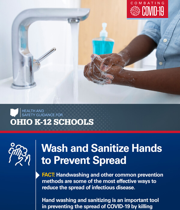 Wash and Sanitize Hands to Prevent Spread